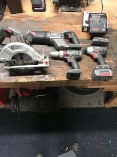 Porter Cable lithium ion 18v tool set