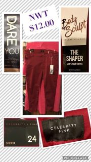 Pulse Size, 24: Red The Shaper: Shape Your Curves Jeans