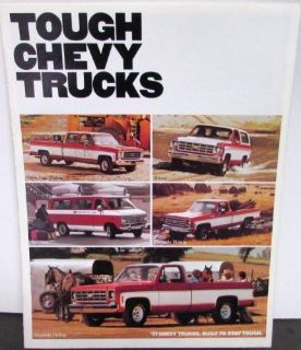 Sell Original 1977 Chevrolet Truck Dealer Brochure Chevy Full Line Pickup Van motorcycle in Holts Summit, Missouri, United States, for US $12.76