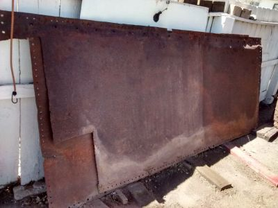Old Steel Panels - High Carbon Steel - Nice Patina Finish Natural
