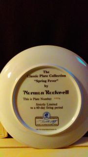 Norman Rockwell Spring Fever plate