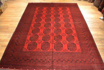 Tribal Afghan Rug / Vintage Oriental Rug