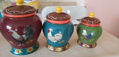3 Chicken Canisters $5