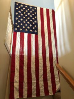 Vintage Large US American 50 Star Flag 9FT X 5FT. Cotton Valley Forge Flag Co. $25.00 obo Very N...