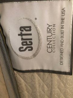Serta queen size mattress and box spring
