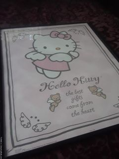 Hello Kitty Angel Art Print with Black Frame
