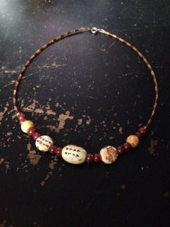 Earthy Colour Beaded Necklace
