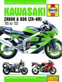 Sell Haynes Service Manual for Kawasaki ZX6 (Ninja ZX-6R), '95-'02 motorcycle in Ashton, Illinois, US, for US $40.95