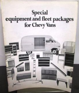 Buy Original 1971 Chevrolet Truck Dealer Brochure Equipment & Fleet Packages Van motorcycle in Holts Summit, Missouri, United States, for US $14.71