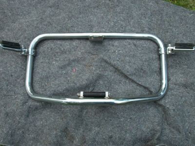 Harley Davidson Sportster road bar with Harley pegs