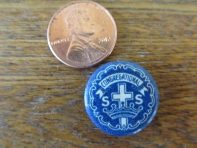 Vintage Yorkville Congragational Church Pin~Reduced