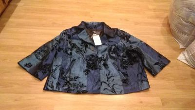 Susan Graver style, brand new with tags. Satin, lined jacket. 2X very pretty