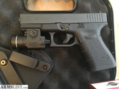For Sale: Glock 23 Gen 3 New with Extras