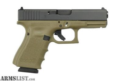 For Sale: GLOCK- G19 GEN 4 OD GREEN M.O.S NEW