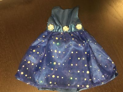 Absolutely Beautiful Royal Blue Special Occasion Doll Dress for 18 Dolls Excellent Condition $5.00