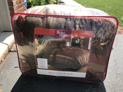 Queen Comforter Set Fall Colors