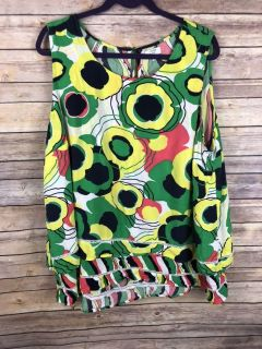Crown & Ivy 3x Mod Floral Sleeveless Top