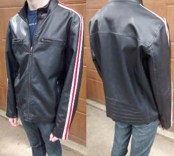 Near new faux leather motorcycle jacket