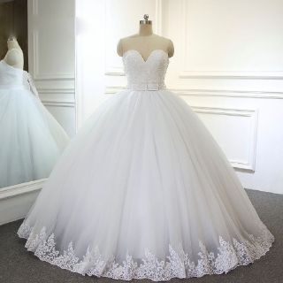 Eileen's Princess Strapless Lace/Tulle Wedding Gown