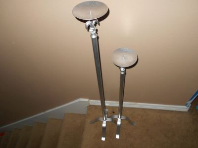 Large Candle Holders - Set Of 2