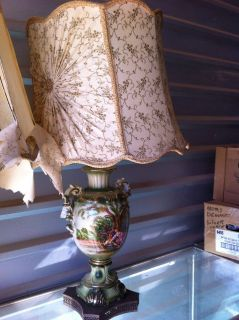 Antique hand painted lamps