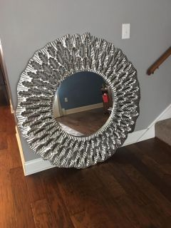 48 Round Mirror Silver*sale pending*