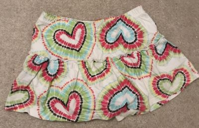 Tie Dyed Heart Skirt 4T