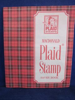 Plaid Trading Stamps Books