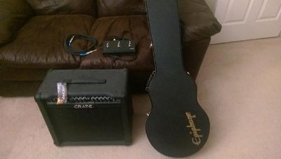 Epiphone Electric Guitar and 65 watt Crate lifier