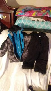 Thick coat and snow pants size 4