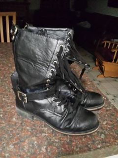 Military Style Boots (black sz 8.5)