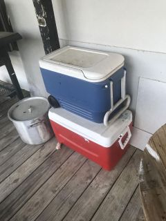 Two ice chests $25 for both