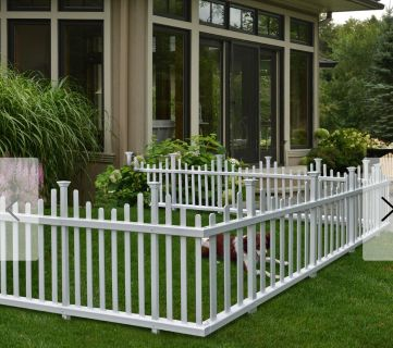 Push in fence panels