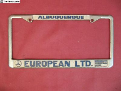 Albuquerque European Ltd Porsche License Frame