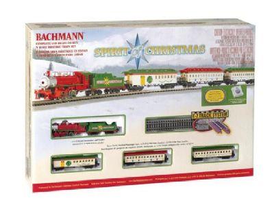 "Bachman Spirit of Christmas Train Set N Gauge 34"" ax 24"" Oval E-Z Track"