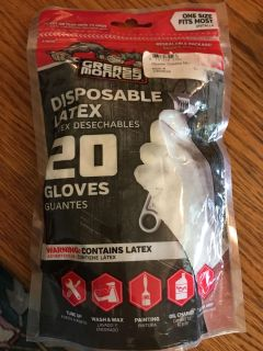New grease monkeys disposable latex gloves 20 pack