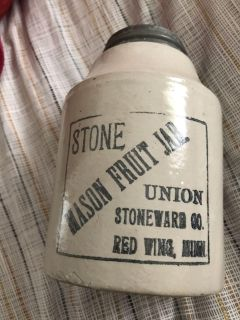 1899 Red Wing stone jar in PERFECT condition!