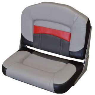 Find Tracker Marine Folding Buddy Bass Boat Fishing Bench Seat - Gray, Black, Red motorcycle in Hales Corners, Wisconsin, United States, for US $129.95