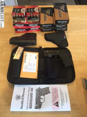 For Sale: Smith & Wesson Bodyguard 380/Holsters/Ammo