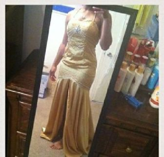 $100 gold formal gown