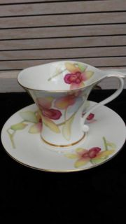 Cha Cult Fluted Tea Cup and Saucer
