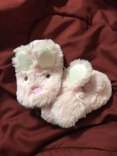 New bunny slippers the ears flop down over the eyes