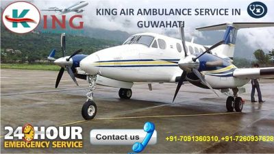 Book Ideal and Advanced Air Ambulance Service in Guwahati by King