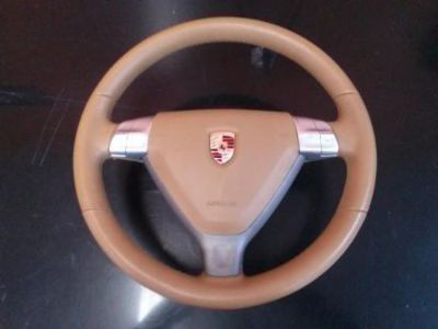 Purchase 05-08 Porsche 987 Steering Wheel Tiptronic Beige Leather with Air bag motorcycle in Tampa, Florida, United States, for US $999.99
