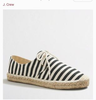 J.CREW ADORABLE STRIPED LACE-UP ESPADRILLES W/8..*NEW CONDITION