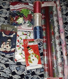 $5 Firm for New Christmas gift wrap stuff lot