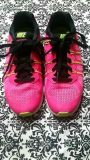 New Girls bright pink & bright neon yellow Nike shoes size 1.5