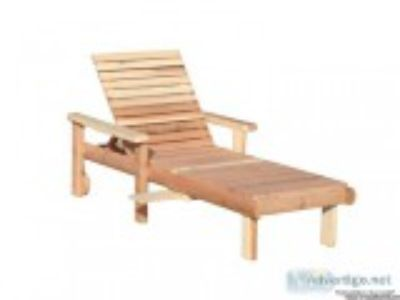 Best Redwood Single Beach Chaise Lounge