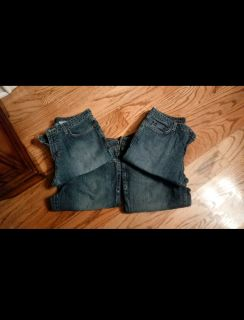 4pr Eddie Bauer denim jeans. Natural fit, straight leg. Excellent condition. Size 4. $3 each or all for $10