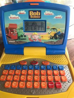 V-Tech learning laptop Bob the Builder